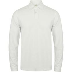 Kleidung Herren Langärmelige Polohemden Skinni Fit SFM44 Weiß