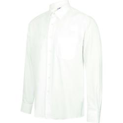 Kleidung Herren Langärmelige Hemden Henbury HB590 Weiß
