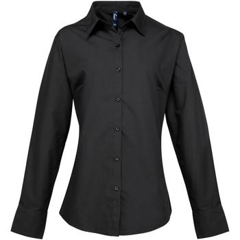 Kleidung Damen Hemden Premier PR307 Schwarz