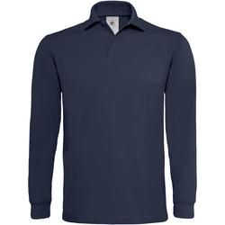 Kleidung Herren Langärmelige Polohemden B And C PU423 Marineblau