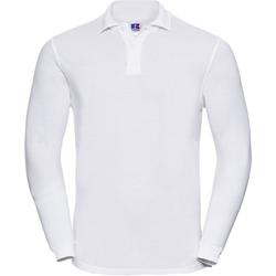 Kleidung Herren Langärmelige Polohemden Russell 569M Weiß