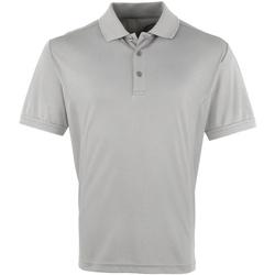 Kleidung Herren Polohemden Premier PR615 Silber