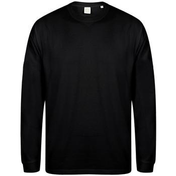 Kleidung Herren Sweatshirts Skinni Fit Slogan Schwarz