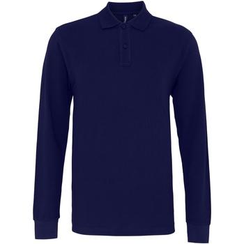 Kleidung Herren Langärmelige Polohemden Asquith & Fox AQ030 Marineblau