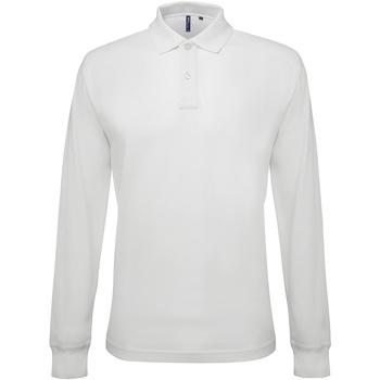 Kleidung Herren Langärmelige Polohemden Asquith & Fox AQ030 Weiß