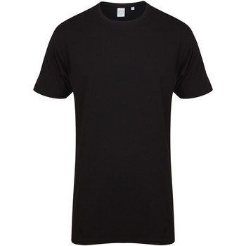 Kleidung Herren T-Shirts Skinni Fit Dipped Hem Schwarz