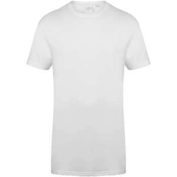 Kleidung Herren T-Shirts Skinni Fit Dipped Hem Weiß