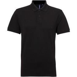 Kleidung Herren Polohemden Asquith & Fox AQ015 Schwarz