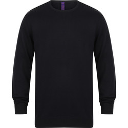 Kleidung Herren Pullover Henbury Gauge Marineblau