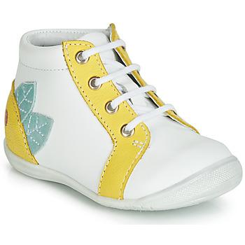 Schuhe Mädchen Sneaker High GBB FRANCKIE Weiss / Gelb
