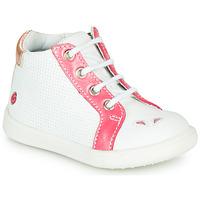 Schuhe Mädchen Sneaker High GBB FAMIA Weiß-korallenrot / Dpf / Messi