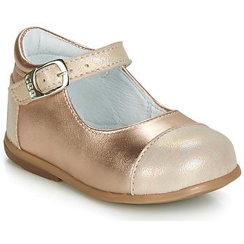 Schuhe Mädchen Ballerinas GBB BELISTO Rose / Gold
