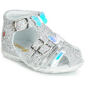 Schuhe Mädchen Sandalen / Sandaletten GBB RIVIERA Silbern