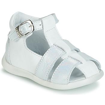 Schuhe Mädchen Sandalen / Sandaletten GBB GASTA Weiss / Silbern