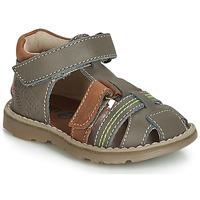 Schuhe Jungen Sneaker High GBB SEVILLOU Grau-rehbraun / Dpf / Trony