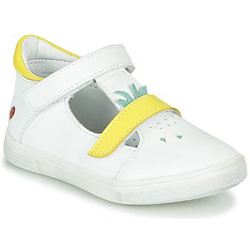 Schuhe Mädchen Ballerinas GBB ARAMA Weiß-gelb / Dpf / Trilly