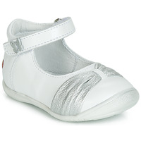 Schuhe Mädchen Ballerinas GBB MALLA Weiss / Silbern