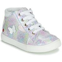 Schuhe Mädchen Sneaker High GBB MEFITA Silbern / Rose