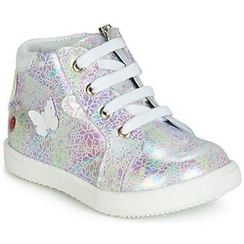 Schuhe Mädchen Sneaker High GBB MEFITA Weiss / Rose