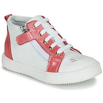 Schuhe Mädchen Sneaker High GBB MIMOSA Weiß-korallenrot / Dpf / Dinner