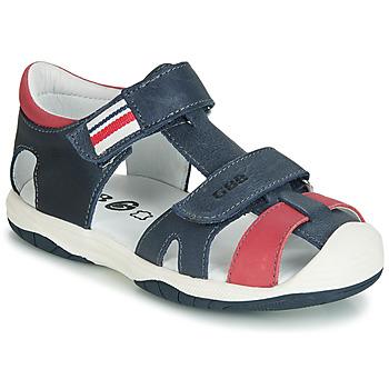 Schuhe Jungen Sandalen / Sandaletten GBB BERTO Marine / Rot