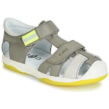 Schuhe Jungen Sandalen / Sandaletten GBB BERTO Grau / Gelb