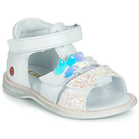 Schuhe Mädchen Sandalen / Sandaletten GBB MESTI Weiss / Silbern
