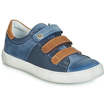 Schuhe Jungen Sneaker Low GBB POMMOR Blau / Braun