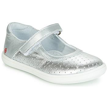 Schuhe Mädchen Ballerinas GBB PLACIDA Silbern