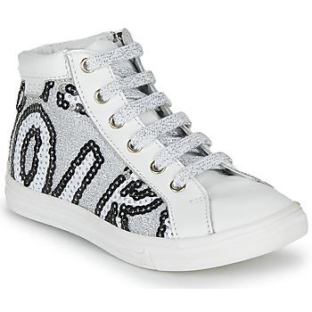 Schuhe Mädchen Sneaker High GBB MARTA Weiss / Silbern