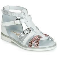 Schuhe Mädchen Sandalen / Sandaletten GBB MONELA Weiss