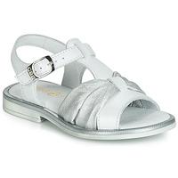 Schuhe Mädchen Sandalen / Sandaletten GBB MESSENA Weiss / Silbern