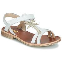 Schuhe Mädchen Sandalen / Sandaletten GBB SAPELA Weiss / Gold