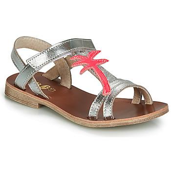 Schuhe Mädchen Sandalen / Sandaletten GBB SAPELA Silbern