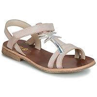 Schuhe Mädchen Sandalen / Sandaletten GBB SAPELA Rose / Silbern