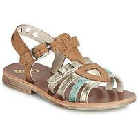 Schuhe Mädchen Sandalen / Sandaletten GBB FANNI Cognac / Gold