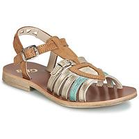 Schuhe Mädchen Sandalen / Sandaletten GBB FANNI Braun / Gold