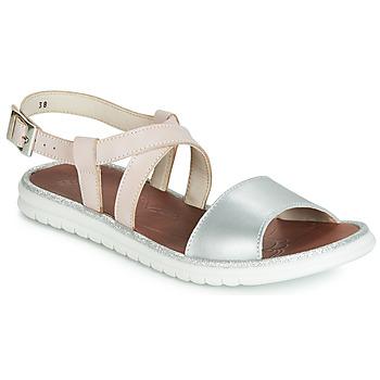 Schuhe Mädchen Sandalen / Sandaletten GBB ADRIANA Rose / Silbern