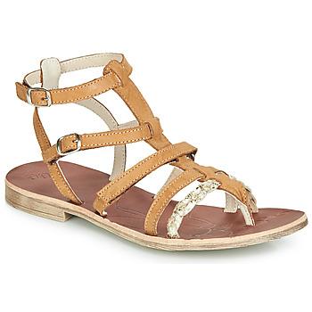 Schuhe Mädchen Sandalen / Sandaletten GBB NOVARA Cognac / Gold