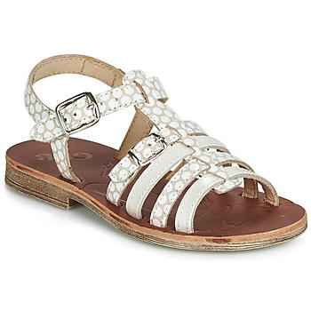 Schuhe Mädchen Sandalen / Sandaletten GBB BANGKOK Beige / Weiss