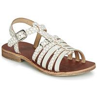 Schuhe Mädchen Sandalen / Sandaletten GBB BANGKOK Weiss / Beige