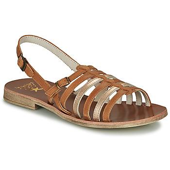 Schuhe Mädchen Sandalen / Sandaletten Catimini NOBO Cognac / Gold