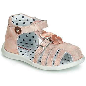 Schuhe Mädchen Sandalen / Sandaletten Catimini VANUA Rose / Gold