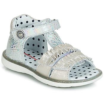 Schuhe Mädchen Sandalen / Sandaletten Catimini BIRA Silbern / Beige
