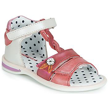 Schuhe Mädchen Sandalen / Sandaletten Catimini GOROKA Weiss / Rot