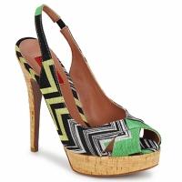 Schuhe Damen Sandalen / Sandaletten Missoni RM71 Grün