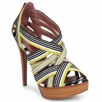 Schuhe Damen Sandalen / Sandaletten Missoni RM20 Gelb / Weiss