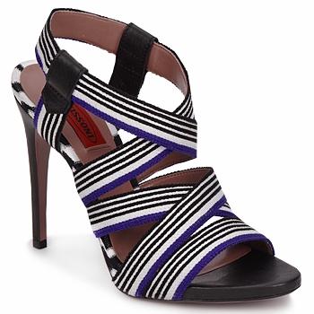 Schuhe Damen Sandalen / Sandaletten Missoni RM19 Blau / Weiss