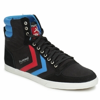 Schuhe Sneaker High Hummel TEN STAR HIGH CANVAS Schwarz / Blau / Rot