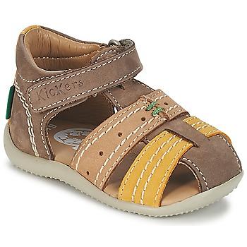Schuhe Jungen Sandalen / Sandaletten Kickers BIGBAZAR Braun / Beige / Gelb